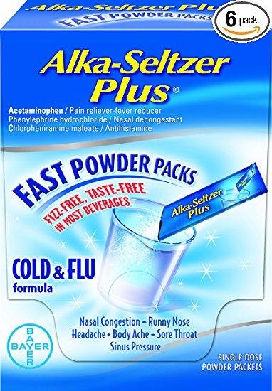 Alka-Seltzer Plus Fast Powder Packs (Generic Phenylephrine