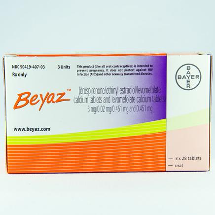 Beyaz Generic Estrogen And Progestin Oral Contraceptives