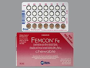Femcon Generic Estrogen And Progestin Oral Contraceptives